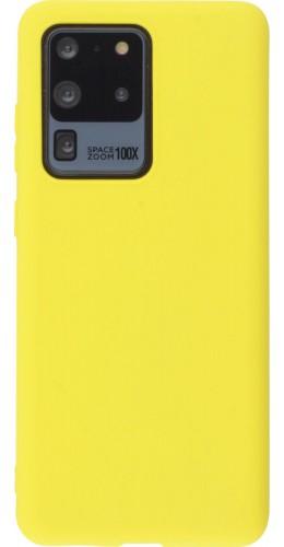 Coque Samsung Galaxy S20 Ultra - Silicone Mat jaune