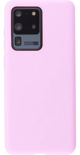 Coque Samsung Galaxy S20 Ultra - Silicone Mat rose foncé