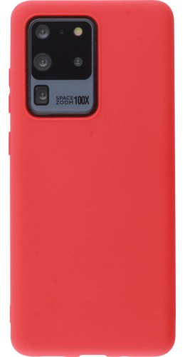 Coque Samsung Galaxy S20 Ultra - Silicone Mat rouge