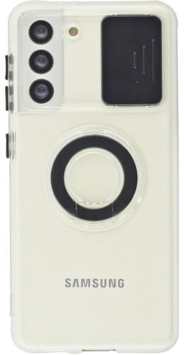 Coque Samsung Galaxy S21 5G - Caméra clapet avec anneau noir