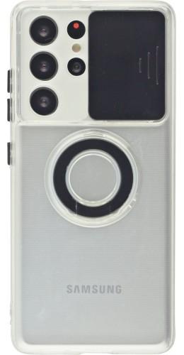 Coque Samsung Galaxy S21 Ultra 5G - Caméra clapet avec anneau noir