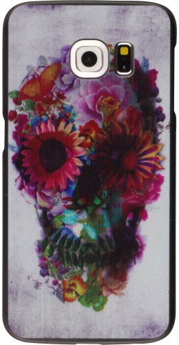 Coque Samsung Galaxy S7 edge - Skull head flower
