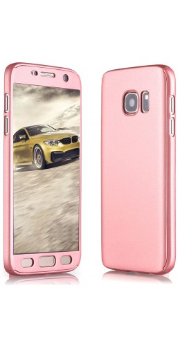Coque Samsung Galaxy S7 edge - 360° Full Body or rose