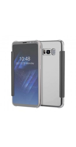 Coque Samsung Galaxy S8+ - Clear View argent