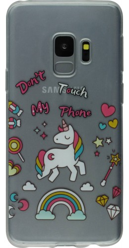 Coque Samsung Galaxy S9+ - Clear licorne don't touch