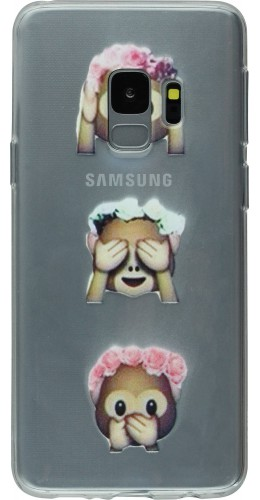 Coque Samsung Galaxy S9 - Clear 3 Singes