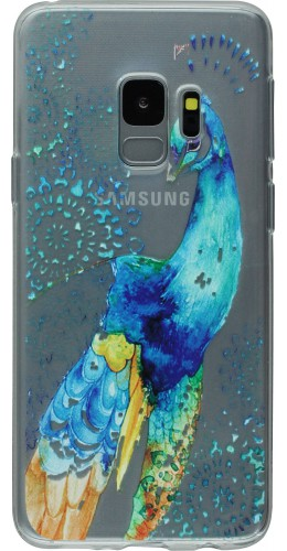 Coque Samsung Galaxy S9 - Gel Blue Peacock
