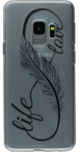 Coque Samsung Galaxy S9+ - Live Feather Love