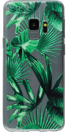 Coque Samsung Galaxy S9 - Clear Leaf Green