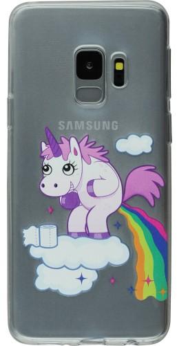 Coque Samsung Galaxy S9+ - Clear Licorne caca