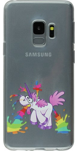 Coque Samsung Galaxy S9+ - Clear Licorne crazy
