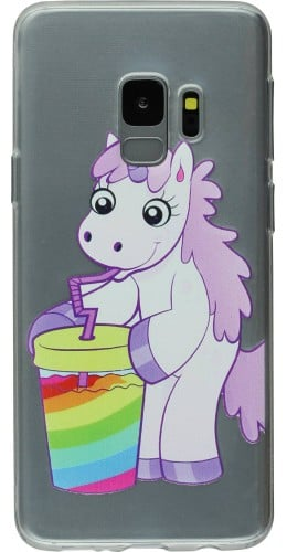 Coque Samsung Galaxy S9 - Clear Licorne soda