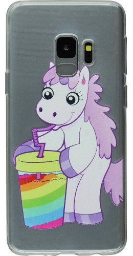 Coque Samsung Galaxy S9+ - Clear Licorne soda