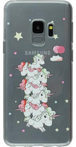 Coque Samsung Galaxy S9+ - Clear Licorne tas
