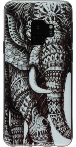 Coque Samsung Galaxy S9 - Elephant noir blanc