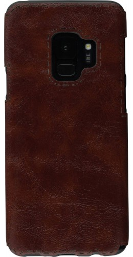 Coque Samsung Galaxy S9+ - Leather Dashed brun