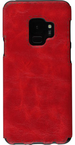 Coque Samsung Galaxy S9+ - Leather Dashed rouge