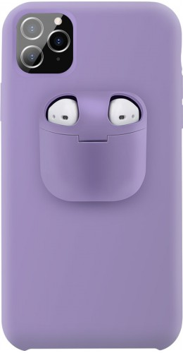 Coque iPhone 11 - 2-In-1 AirPods Soft Touch violet