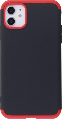 Coque iPhone 11 - 360° Full Body noir rouge