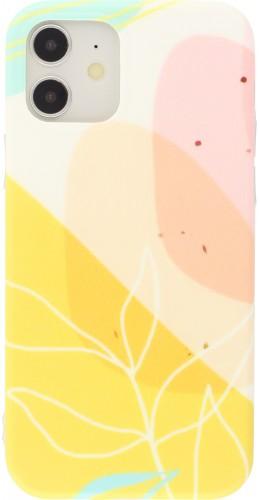 Coque iPhone 11 - Abstract Art jaune