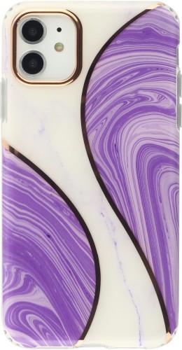 Coque iPhone 11 - Bright line courbe violet
