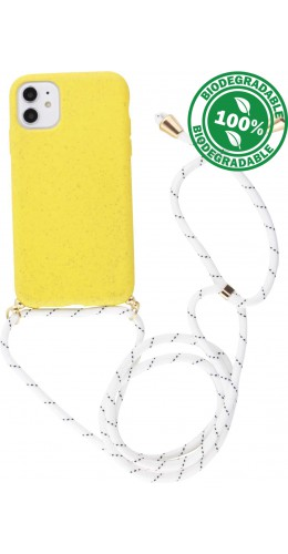 Coque iPhone 11 - Bio Eco-Friendly Lacet jaune