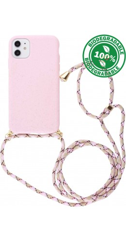 Coque iPhone 11 - Bio Eco-Friendly Lacet rose
