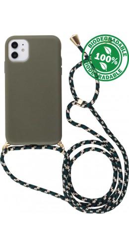 Coque iPhone 11 - Bio Eco-Friendly Lacet vert foncé