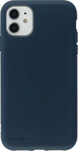 Coque iPhone 11 - Bioka biodégradable bleu