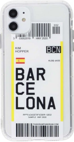 Coque iPhone 11 - Boarding Card Barcelona