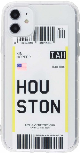 Coque iPhone 11 - Boarding Card Houston