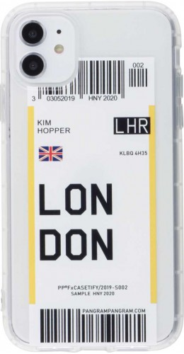 Coque iPhone 11 - Boarding Card London