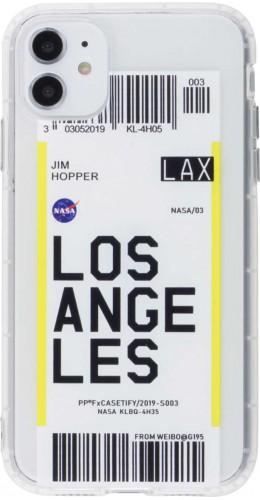 Coque iPhone 11 - Boarding Card Los Angeles
