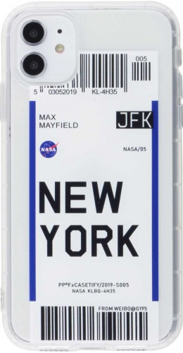 Coque iPhone 12 Pro - Boarding Card New York
