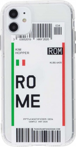 Coque iPhone 11 - Boarding Card Rome