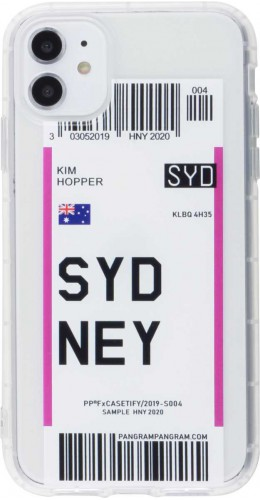 Coque iPhone 11 - Boarding Card Sydney