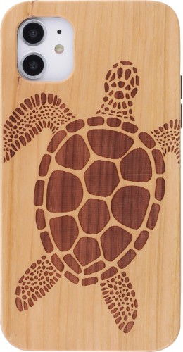 Coque iPhone 11 - Bois tortue