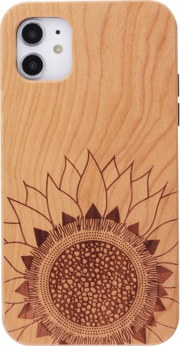 Coque iPhone 11 - Bois tournesol