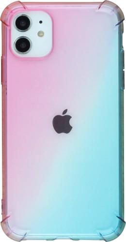 Coque iPhone 11 - Bumper Rainbow rose bleu