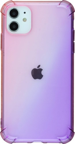 Coque iPhone 11 - Bumper Rainbow rose violet