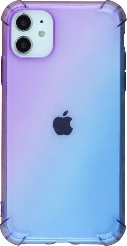 Coque iPhone 11 - Bumper Rainbow violet bleu