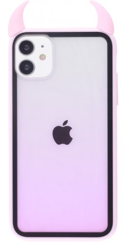 Coque iPhone 11 - Demon Gradient rose