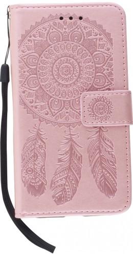 Coque iPhone 11 - Flip Dreamcatcher rose clair