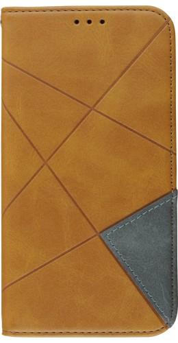 Coque iPhone 11 - Flip Géometrique beige