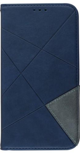 Coque iPhone 11 - Flip Géometrique bleu