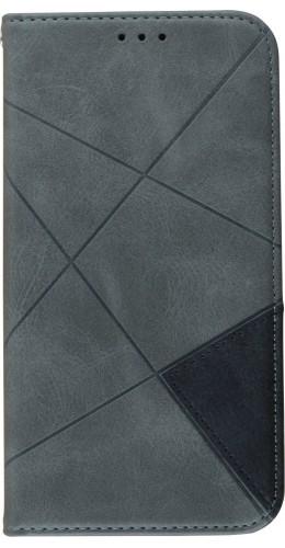 Coque iPhone 11 - Flip Géometrique gris