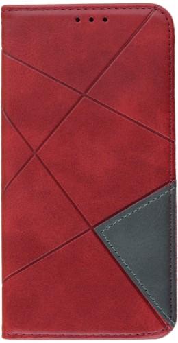 Coque iPhone 12 / 12 Pro - Flip Géometrique rouge