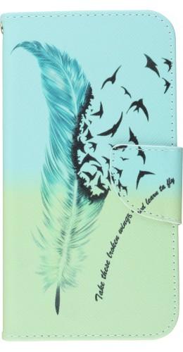 Coque iPhone 11 - Flip Plume Oiseaux