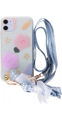 Coque iPhone 11 - Flowers avec lacet
