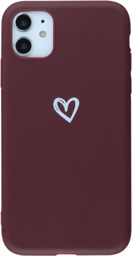 Coque iPhone 11 - Gel coeur rouge